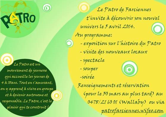 patro farciennes invitation 1
