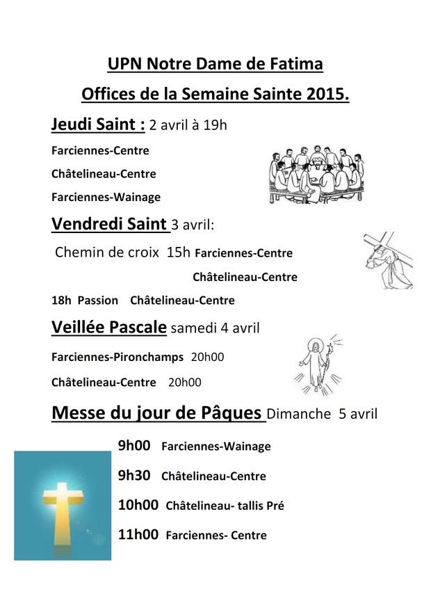 Offices de la semaine sainte 2015  upn