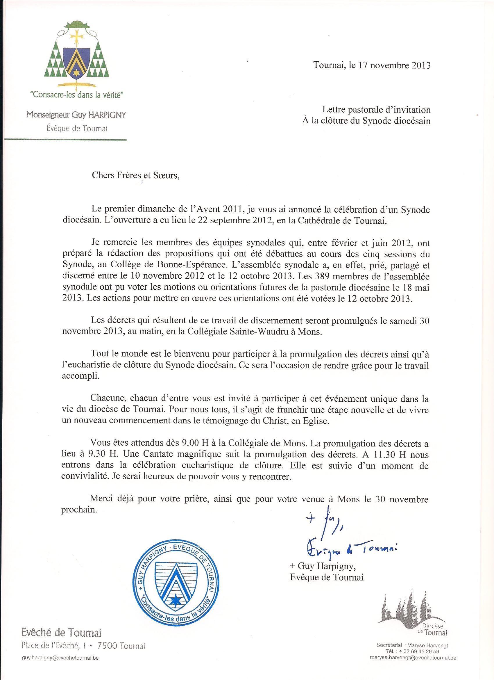 Lettrepastoraled'invitationclôtureSynode16-17novembre2013